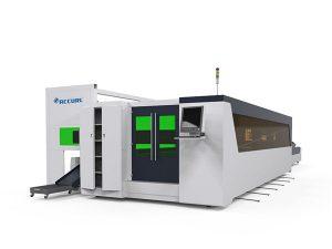 metallrör och plattfiber höghastighets laser skärmaskin 1500w med roterande enhet