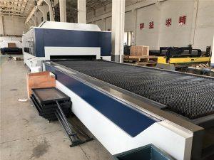 2kw cnc-fiberlaserskärare, laserskärning och gravyrmaskin med utbytebord