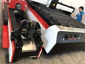 stabil metallfiber laser skärmaskin, CNC metall laser skärmaskin