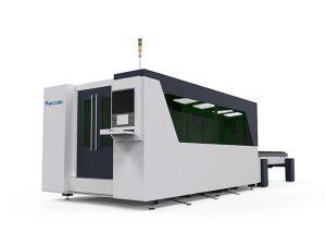 dubbelbord cnc laser metall skärmaskin, automatisk laserplatta skärmaskin