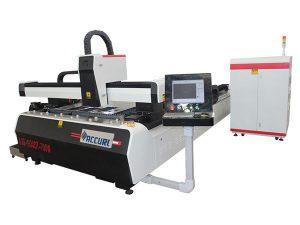 1000w 1500w lasermetall skärmaskin för mjukt stål, 45 m / min skärhastighet
