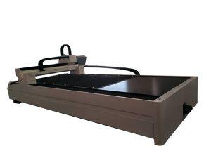 platta / rör metallfiber laser skärmaskin enda arbetsbord