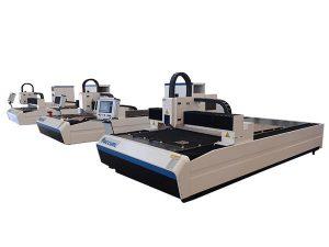 hög precision fiber laser skärmaskin dubbel linjär motor för metallplatta