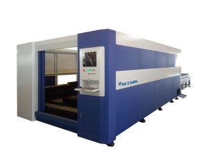 380v / 50hz laserstål skärmaskin, smart fiberoptisk laserskärare