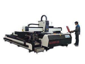 mini högeffekt laser skärmaskin, fiber laser skärutrustning med utbytesbord