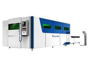 helt slutet industriellt laserskärmaskin byter bord med hög precision
