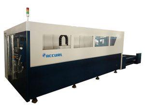 cnc styrfiber laserrör skärmaskin, silver fiberoptisk laserskärare
