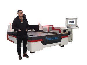 linjär styrning cnc laserrör skärmaskin för koppar / titan