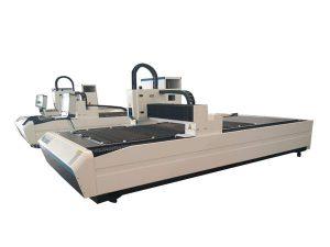 dubbla användning laser rör skärutrustning, professionell cnc laser rör skär maskin